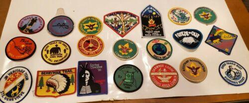 21 Vintage Boy Scout BSA Patch Lot 1980s 90s  St Louis Trails Earth Day