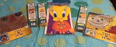 SPECIAL FALL DECORATIONS - TWEETY HALLOWEEN WINDSOCK, Scarecrow Flags, Pumpkin - Halloween Windsock