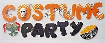 Costume Party Title Halloween RARE Jolee's 3D Sticker