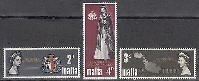 Malta Nr. 367-369** Besuch Königin Elisabeth II. auf Malta