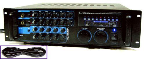 🔥【PRO TESTED】MINTY VocoPro DA-3700PRO Karaoke Mixer/200W Amp!Echo,Key💥GUARANTY