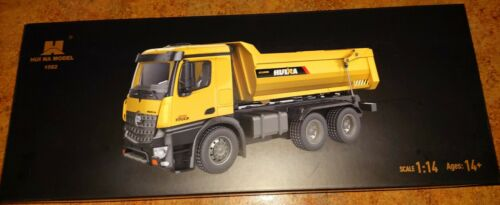 Huina 1582 1:14 Scale Metal Dump Truck 10 Channel 2.4 GHZ 1:14 Brand New RTR