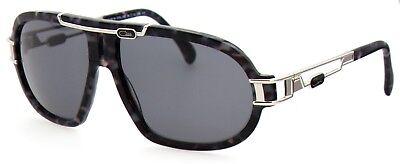 Cazal Herren Damen Sonnenbrille CZ8018 COL.002 64mm schwarz silber S AB3 4