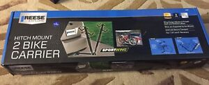 Reese sport wing trailer hitch bike carrier NEW holds 2 bikes