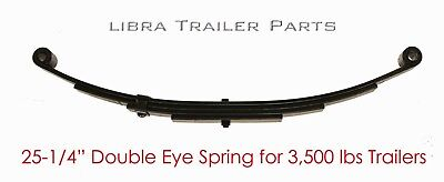 New trailer leaf spring -4 leaf double eye 1750lbs for 3500 lbs axle - - Double Eye Leaf Spring