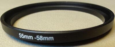 Neu 55mm To 58mm Verstärken Filter Objektiv Ring Metall DSLR SLR Digitalkamera (Objektiv Verstärker)