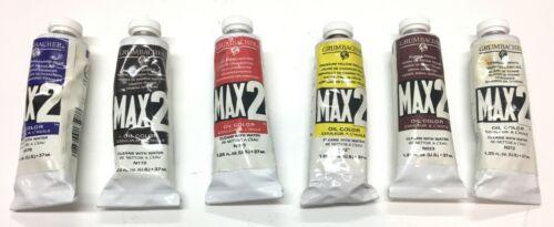 Grumbacher Max 2 Oil Paint Set, 37ml