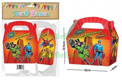 20 Super Hero Birthday Party Treat Boxes / Cupcake Plate Favour Sweet Gift Box  Birthday Treat Plate