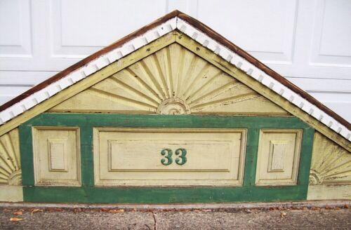 Victorian 1885 gingerbread house gable pediment SUNBURST fretwork Salvage trim