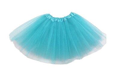 Tütü Tüllrock Ballettkleid Damen Frauen 3 Lagen Kostüm Fasching Party - Blau Tutu Rock Kostüm