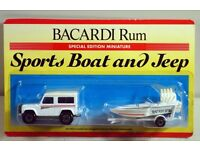 Excellent condition Bacardi Rum Sports Boat and Jeep
