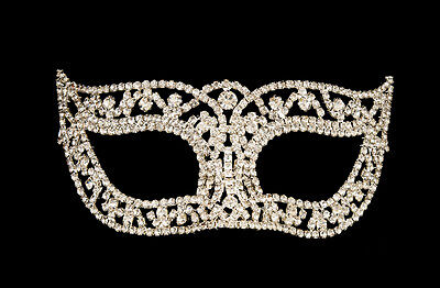 Mask Venetian Wolf of Luxury Diamante and Lace Metal Carnival Venice 1273