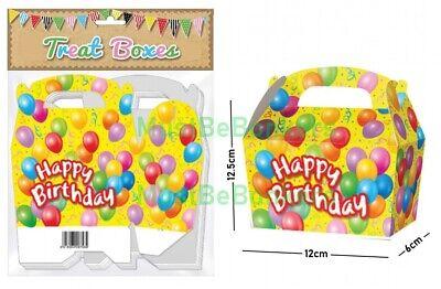 20 Happy Birthday Party Treat Boxes / Cupcake Loot Plate Favour Sweet Gift Box Birthday Treat Plate