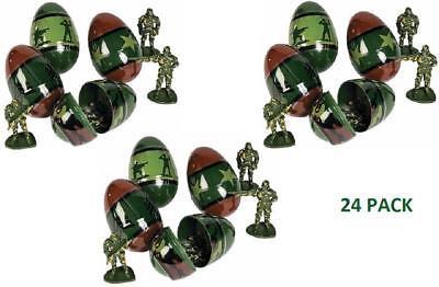 Camouflage Plastic Eggs Filled With Toy Soldiers (24 Pack) Easter Baskets Hunt](Plastic Eggs With Toys)