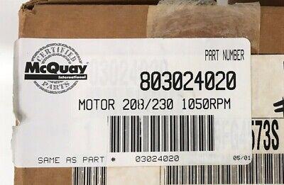 Mcquay Hvac Motor 208230 1050 Rpm New In Box Part 803024020