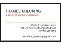 Thames Tailoring over 20 years experience.