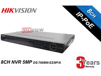 Hikvision Network Video Recorder NVR 8 Channel (DS-7608NI-E2/8P/A) - Upto 8TB HDD