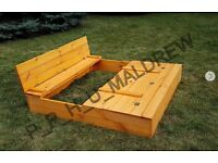 wooden foldable sand pit delivery or collection