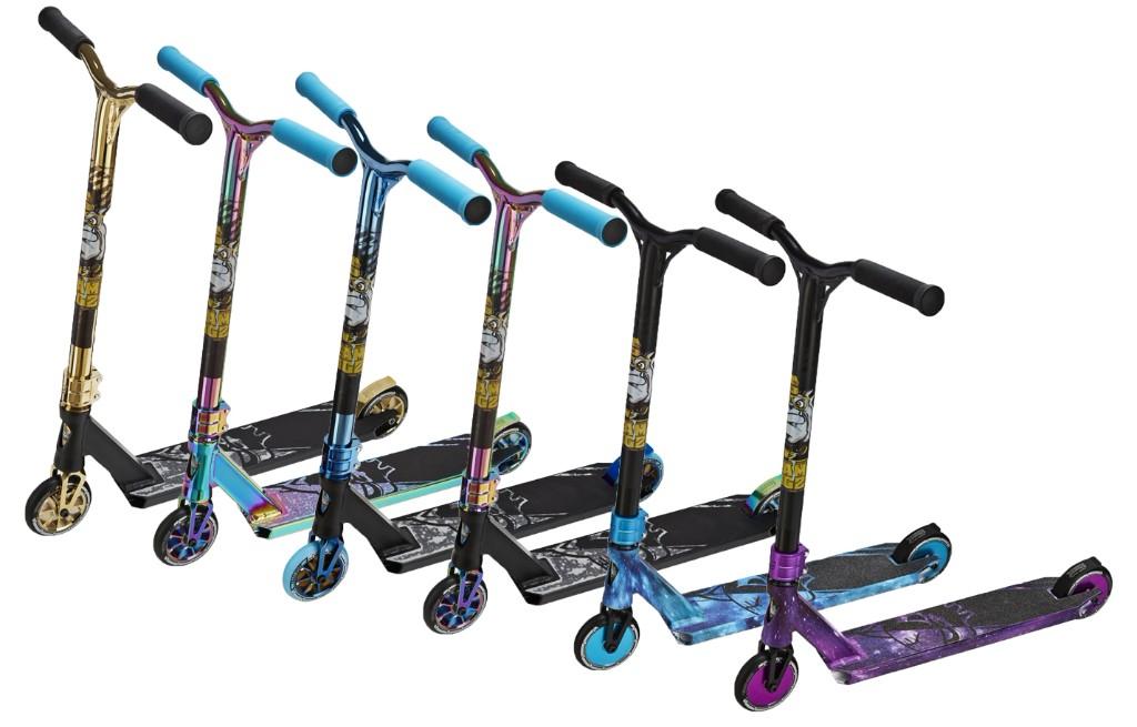 Team Dogz New Model Pro X Rainbow NeoChrome Oil Slick Kids Stunt Push Scooter