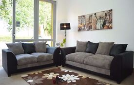 """""Supreme Quality Furniture"""" Brand New Byron 3 And 2 sofa or corner sofa in jumbo cord fabric"
