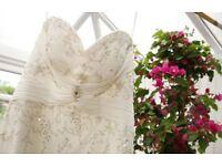 Wedding dress with beautiful beading detail