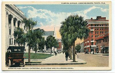 Florida Avenue Tampa Florida 1920c postcard