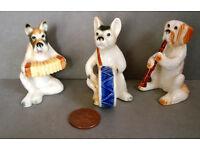 vintage ceramic dog band figures