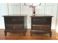 2x Vintage Stag Bedside Tables