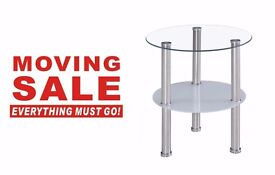 Modern Design two tier Glass table