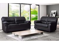 *COME AND VIEW IT ,TRY IT THEN BUY IT* BRAND NEW CANDY LEATHER 3+2 SOFA SUITE BLACK OR BROWN