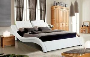 WHITE QUEEN BED (GL69)