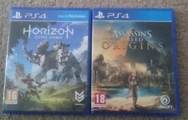 PS4 Game Bundle - Assassins creed Origins & Horizon Zero Dawn