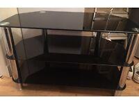 Black high gloss Glass TV unit