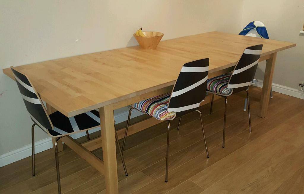 ikea discontinued norden dining table 8 10 in falkirk gumtree. Black Bedroom Furniture Sets. Home Design Ideas