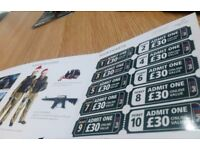 Paint balling tickets