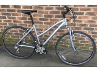 19 inch Marin ladies silver hybrid BIKE Town city Bicycle