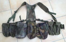 British army PLCE webbing in DPM pattern camouflage