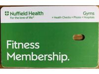September Health Club/Gym Membership for Nuffield Health Tier 2 & 3 Clubs
