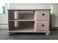 Painted Pine TV Unit / Bedside Table / Drawers / Cabinet