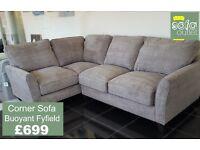 Designer Buoyant Fyfield Fabric corner sofa £699