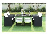 Rattan cube 8 seater garden furniture £270 bargain