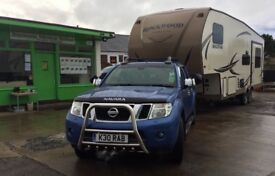 Rockwood fifth wheel and Navara V6 package