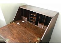 Attractive Wooden Bureau Writing Desk With Drawers