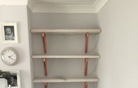 Scaffold board shelving- made to order