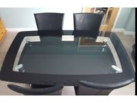Beautiful Glass Dining Table & Chairs