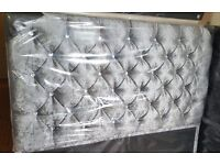 Can Deliver Today BRANDNEW Crushed Velvet Double Bed +25cm Luxury Mattress+ Diamante Headboard