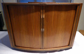 Original Wood Decca TV Cabinet from 1950's with Sliding Doors. Storage? Drinks?