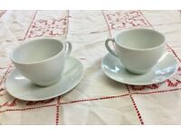 Afternoon Tea~Tea shop~Cafe~Lovely plain white porcelain tea cup and saucer