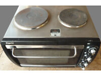 Elgento portable Electric Oven 28L with Double Hot Plates