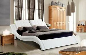 WHITE BED | ALSO CARRY - PLATFORM STORAGE BED, ROUND BED AND OTHER UNIQUE MODERN BEDS (GL60)